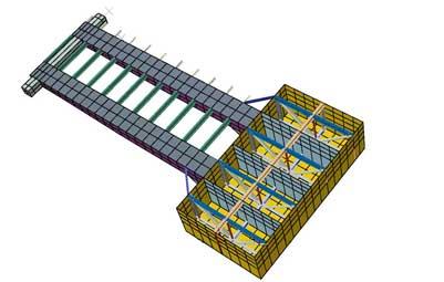 ارایه خدمات مهندسی در پروژه طراحی، ساخت و نصب اسکله رو ـ رو بندر شهیدباهنر و تجهیزات جانبی