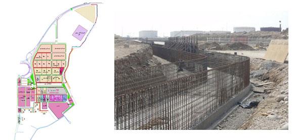 نظارت کارگاهی و عالیه احداث تاسیسات زیر بنایی بندر خلیج فارس (مرحله اول اجرایی)