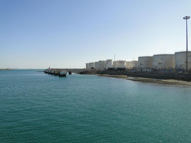 مطالعات ارتقای اسکله دلفینی و جانمایی  توسعه دریایی در ضلع شرقی بندر خلیج فارس