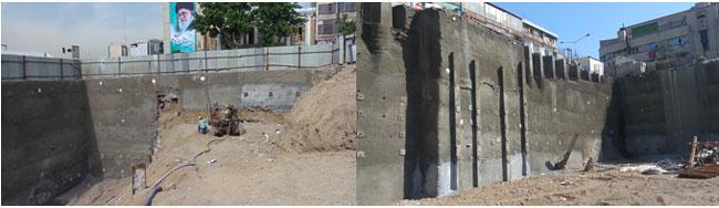 خدمات مشاور کارفرما در پروژه طرح و ساخت پایدارسازی دیواره های گود ساختمان تالار شهر