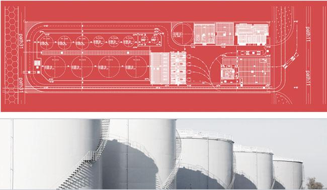 طرح احداث پایانه نفتی شرکت روانکار دریایی هرمز (قطعه T8b) واقع در مجتمع بندری شهید رجایی