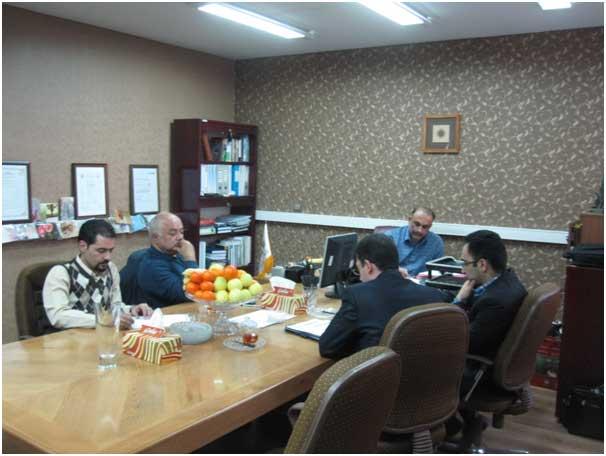 جلسه نهایی ممیزی که اعضای تیم ممیزی به ارائه گزارش خود در جمع مدیران مهندسین مشاور هندسه پارس پرداختند