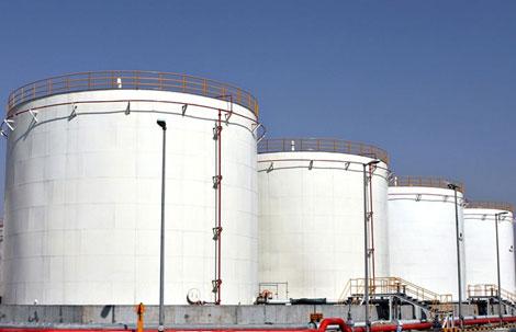 پروژه احداث پایانه نفتی شرکت بناگسترکرانه واقع در مجتمع بندری شهید رجایی سال 1388
