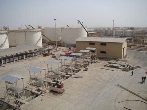 پروژه احداث پایانه نفتی شرکت کیوان انرژی واقع در مجتمع بندری امام خمینی (ره) سال 1391