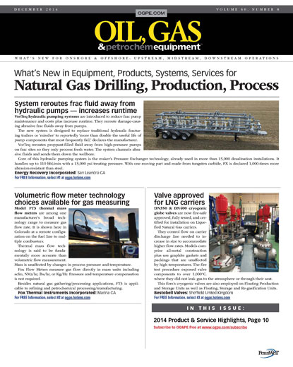 Oil, Gas and Petrochemical Equipment (OGPE)