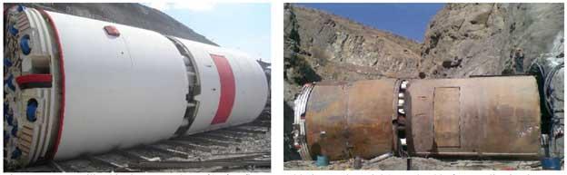 دستگاه TBM مورد استفاده در حفاری تونل مورد نظر