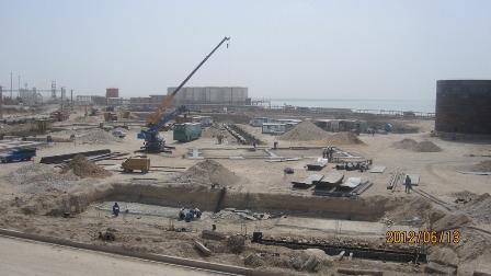 پیشرفت 35 درصدی پروژه احداث پایانه نفتی شرکت کیوانانرژی خلیجفارس در بندر امامخمینی